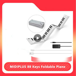 beginners electronics UK - MIDIPLUS 88 Keys Foldable Electronic Piano Portable Keyboard 128 Tones Dual Speakers Headphone Output with Sustain Pedal New
