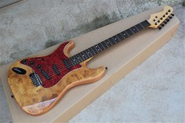 left handed guitars custom shop 2020 - Free Shipping Custom Shop ST Strat Stratocaster Red Electric Guitar With 3 sss Pickups Left Handed Guitar discount left