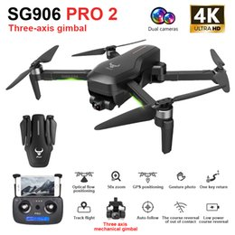 Wholesale ZLRC SG906 Pro 2 RC Drone with 4K Camera GPS 5G WIFI 3-axis Gimbal Drone Quadcopter Professional 50X Zoom Brushless Drones Toys 201105