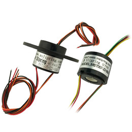 Wholesale 1PC Through Hole Slip Ring 2 4 6 12CHWiring 1.5A 2A Low Current Slipring Hollow Slip Rings Hole 5-9mm Conductive Rings