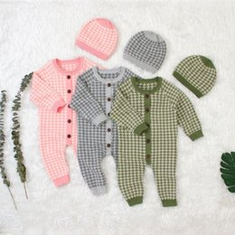 Wholesale knit sets for sale - Group buy 2019 Infant Baby Rompers Autumn Clothes Newborn Baby Boy Girl Knitted Sweater Jumpsuit Spring Kid Toddler Outerwear Set sqcIOK toys2010