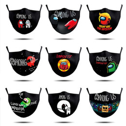 Wholesale space masks for sale - Group buy Among us face mask men women Space Odyssey Astronaut D Animation Cartoon Dust Masks Game Werewolf Printed mouth facemask