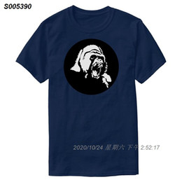 gorilla tshirt UK - Printed Design Gorilla Tshirt For Men Humor Unisex Streetwear Harajuku Mens T Shirts Short-Sleeve Camisetas Hiphop Tops 4332510