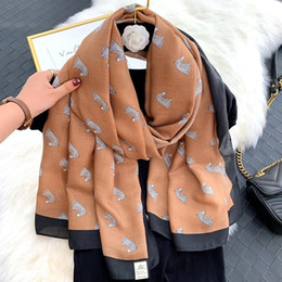 cotton head scarves Canada - European and American new cotton and linen feel horse head women's wild warm fashion winter long shawl scarf beach towel gift