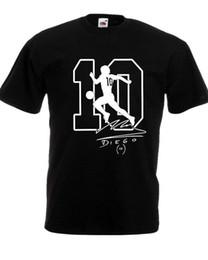 Wholesale T shirt Maradona El dies Napoli Argentina pibe Uomo bimbo autografo 100% Cotone football cool casual pride t shirt men -in T-shirts from