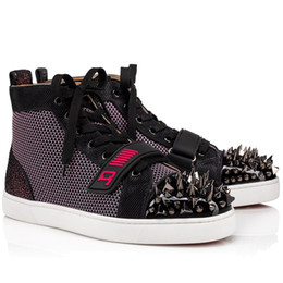 ingrosso vs rosa-Brand Red Poles Sneakers da uomo Pik Pik vs Mens Flat Mesh Top Top Sneakers Nero Pink Velcro Jogging Tower Trainer Regalo di compleanno con scatola