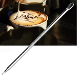 Großhandel Barista Cappuccino Espresso Kaffee Dekorieren Latte Art Stift Tamernadel Kreative Hohe Qualität Fancy Coffee Stick Tools