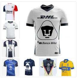 Discount thailand soccer jersey wholesale DHL Free shipping 2020 2021 Top thailand Quality Tigres UANL soccer jersey 20 21 Tigres UANL Soccer Jersey Size can be m