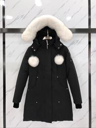 Venta al por mayor de Mujeres Invierno Down Parka Jassen Chaquetas Outerwear Outer Fur Fighture Manteau Canadá Down Chaqueta Expedition Coat Doudoune Mooses Knuckles