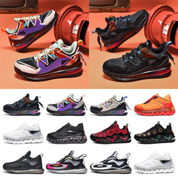 cushioned basketball shoes 2021 - New fashion mens sneakers running shoes Full palm cushion shock absorption purple black blue red grey split trainers size 40-45