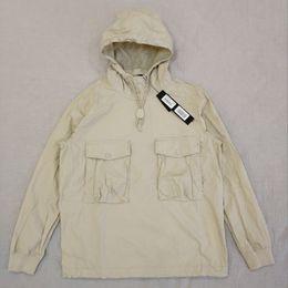Wholesale anorak fashion for sale - Group buy 19SS mens designer hoodie GHOST PIECE SMOCK ANORAK COTTON NYLON TELA Pullover Jacket Men Women Coats Fashion Outerwear F2E45M