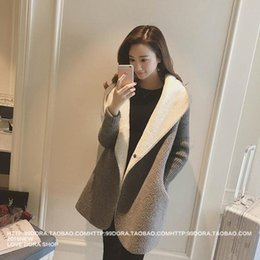 Wholesale lamb cotton wool resale online - dP0Fp Winter clothing lamb wool women Korean students mid length cotton padded and overcoat autumn cotton spring thickened hooded lamb wool c