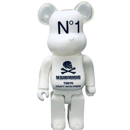 Wholesale HOT 400% 28CM Bearbrick Evade glue Skull White and Black bear figures Toy For Collectors Be@rbrick Art Work model decorations kids gift