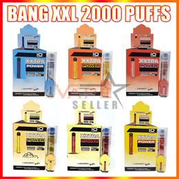 BANG XXL Engångs Vape Pen E Cigaretteanordning 800mAh Batteri 6ML Patron Pods 2000 Puffs XXTRA Ångsats