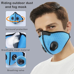 fast mask NZ - Face Protective Shipping Sport Anti-Pollution Activated 2.5 Filter Mask With Valve Fast Carbon Training Running PM Breathing Bike Masks Qnub