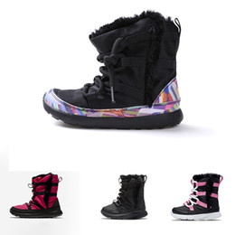 babys shoes 2021 - With Box Little kids Venture Winter High Top boots Childrens Cutton shoes Children Boys Girls Infants Toddlers Babys sno