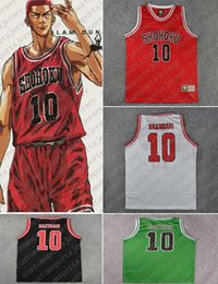 Wholesale anime basketball for sale – custom Cheap custom Anime SLAM DUNK Shohoku Sakuragi Basketball Jersey Stitch customize any number name MEN WOMEN YOUTH XS XL