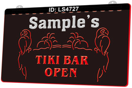 tiki bar signs 2021 - LS4727 Name Personalized CustomTalleys Tiki Bar Open 3D Engraving LED Light Sign 9 Colors Wholesale Retail Free Design