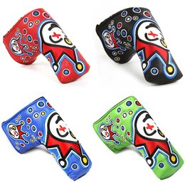 golf putter clown joker cover PUTTER HEADCOVER cameron Johnny jackpot blade putter scotty headcovers Letter T circle T on Sale