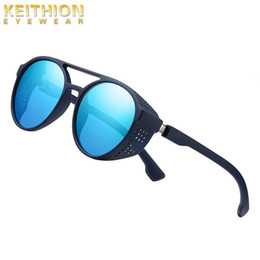 Lunettes de soleil pour Messieurs et dames verres Bleu Miroir Polarisé Style Nerd