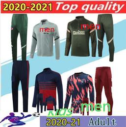 2020 Men + Kids Training Suit Futebol Jacket Training Suit Camiseta Fútbol Llorente 20/21 Jaqueta de futebol Zipper Tracksuit em Promoção