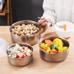 Stainless Steel Crisper Five-piece Insulated Box Lunch Box Lunch Box Student Kitchen Picnic Food Container on Sale