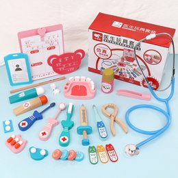 2020 new children's family doctor toy set simulation nurse injection tools medical kit role play interactive toys