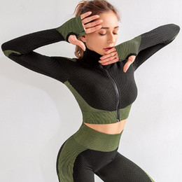 Wholesale amazon women clothing for sale - Group buy Seamless yoga dress for women with tight gym clothes amazon sells workout long sleeves1