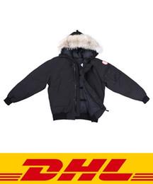 Wholesale woolen men s outerwear for sale - Group buy Canada Winter Mens Bomber Homme Winter Jassen Chaquetas Outerwear Big Fur Hooded Fourrure Manteau Down Jacket Coat Hiver Doudoune
