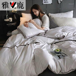 Wholesale New 100% White Superfine fiber Winter Quilt Comforter Polyester Blanket Duvet Filling With Cotton Cover Twin Queen King Size1