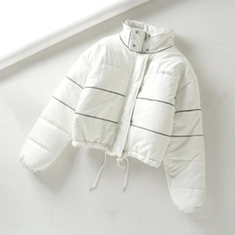 Winter Women's Cropped Down Puffer Jackets Coat Ladies Padded Bomber Bubble Jacket Parka