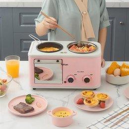 Casa multifuncional café da manhã automático aparelhos de cozinha elétrica torradeira máquina de café da manhã em Promoção