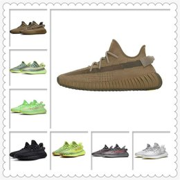 Ingrosso Scarpe sportive da donna da uomo 2021 Kanye West Ash-Blue Shoes Famous Best Brand Light Reflective Casual Sneakers Sport Sneakers arrampicata Scarpa taglia 36-48