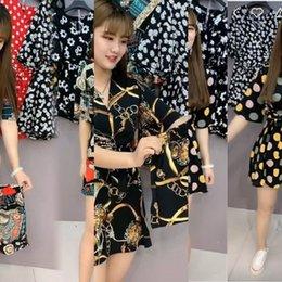 Wholesale women dress suits for sale – plus size a5Xy8 skirt Dress women s chiffon skirttwo piece summer skirtChiffon suit skirt slim dress net red shorts women OfXPx