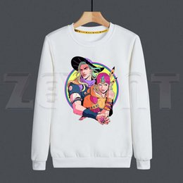 lion hoodies sweatshirt NZ - JoJo Bizarre Adventure Stone Ocean Steel Ball Run JoJo Lion Men Hoodies Sweatshirt Print Trend Mens Clothes Hip-Hop Male X1022