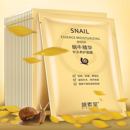 Wholesale blacks mask resale online - Hyaluronic Hydrating Snail Essence Moisturizing Mask Collagen Masks Shrink pores Anti Aging Black Face Mask Skin Care Facial Mascarilla
