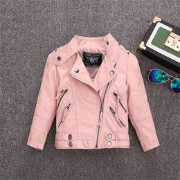 Wholesale sells leather jackets for sale – winter 2 Y HOT selling new Pu leather jackets for baby girl and boys loose good quality children coats kids spring sutumn tops ws410 C1012