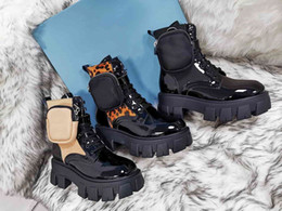 Wholesale locomotive leather for sale - Group buy Fashion British style platform shoes black locomotive Martin boots new unisex platform shoes pocket ankle boots