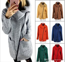 Wholesale fashion dust coats resale online - 2019 Hi Q new style Overcoat dust coat jacket for women fashion wear in autumn and winter fleece Winter spring bigger sizes brushed S XXXXXL
