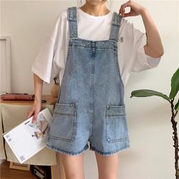 Pantalones Cortos De Mezclilla Mujeres Tirantes Oferta Online Dhgate Com