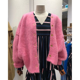 Wholesale women s european winter coats resale online - nUBhF South Korea East Gate women s wear fall winter new knit Coat sweater style lazy fashion loose sweet cardigan coat women sweater B7