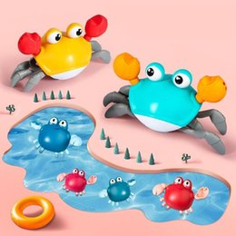 Wholesale Hipac Crabs Bath Toys Cute Animals Swimming Water Toys 4 to 6 Years Old Colorful Float Squeeze Bathing Toys For Babies LJ201019