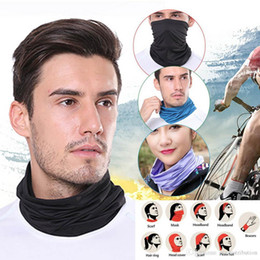 Discount stock beanies US Stock Cycling Unisex Magic Head Face Protective Mask Neck Gaiter Biker's Tube Bandana Scarf Wristband Beanie Cap Designer Masks