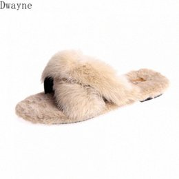 Discount womens formal flat shoes 2020 New Spring Wild Korean Fashion Wear Chic Harajuku Fur Slippers Flat Half Drag Womens Shoes Formal Shoes Rubber Boot