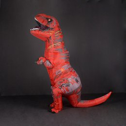 Wholesale anime cloths resale online - Adult Kids Inflatable Dinosaur T REX Costume Women Men Girls Boys Dino Cosplay Costumes for Anime Halloween Carnival Party Cloth