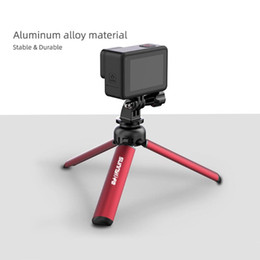 Wholesale mobile camera stands resale online - Mini Desktop Tripod for OSMO Mobile Pocket Action Fimi Palm Aluminum Alloy Stand Drawstring Pouch Camera Accessories