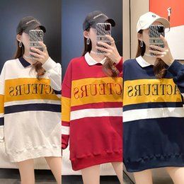 Wholesale multi color polo for sale – custom WsHs9 Multi color polo collar autumn women s wear Top Korean sweater trend sweater version jacket long sleeve wear women s top uN8BN