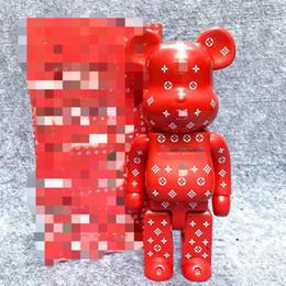 Großhandel HOT 400% 28CM Bearbrick Des Jahrhundert heftige Bären Chiaki Figuren Spielzeug für Sammler Be @ rbrick Geschenk Modell Art Work Dekoration Spielzeug