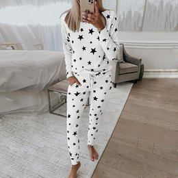 Wholesale lounge wears for sale - Group buy Womens Outfits Pink Print Loose Lounge Wear Casual Piece Sets Autumn Long Sleeve Tops and Jogger Suit Ladies Tracksuits
