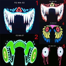 half face light up mask Australia - Up EWD2408 LED Luminous Half Waterproof Face Fashion Masks Event Dance Light Flashing Party Cosplay Mask Cool Oabhr